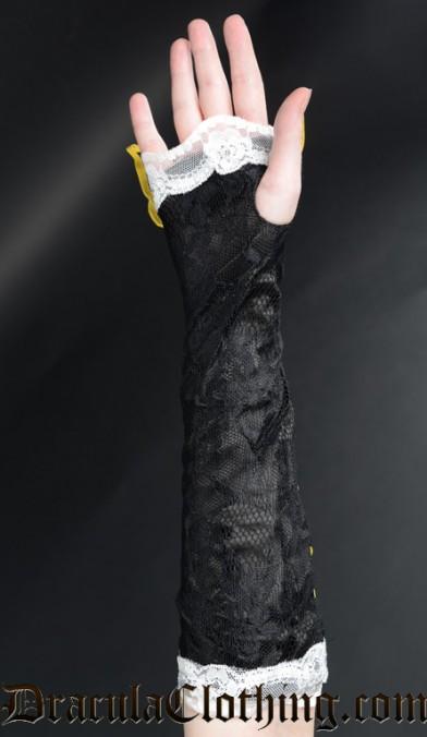 Black Long Lace Gloves