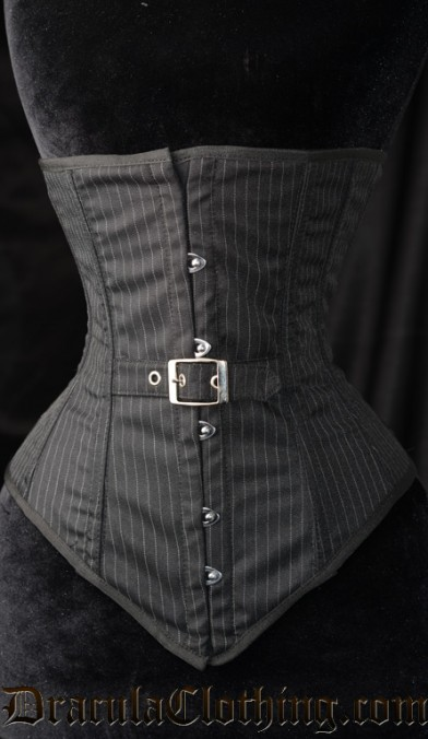 Pinstripe Belt Corset