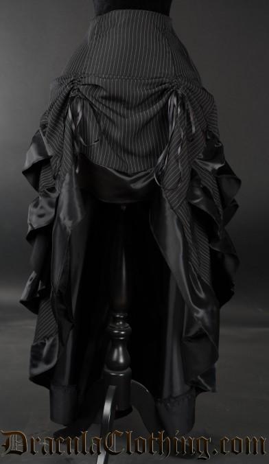Pinstripe Layer Bustle Skirt