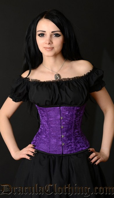 Purple Brocade Corset