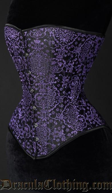 Purple Jacquard Overbust Corset