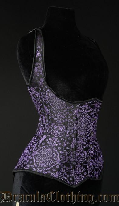 Purple Jacquard Shoulder Corset