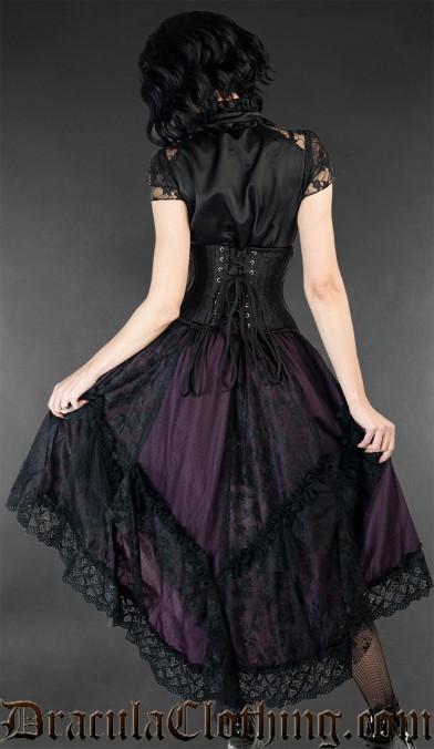 Purple Ruffle Skirt