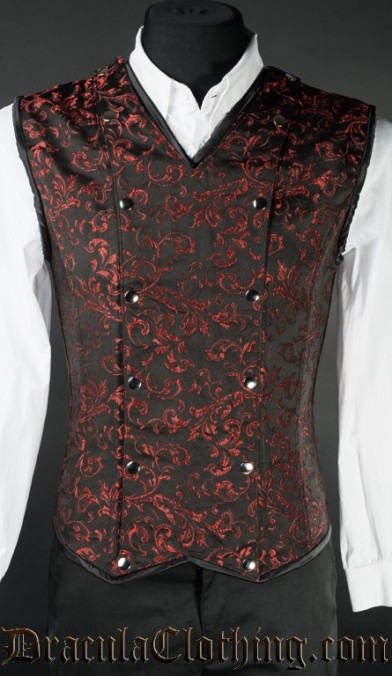Red Brocade V-Shaper