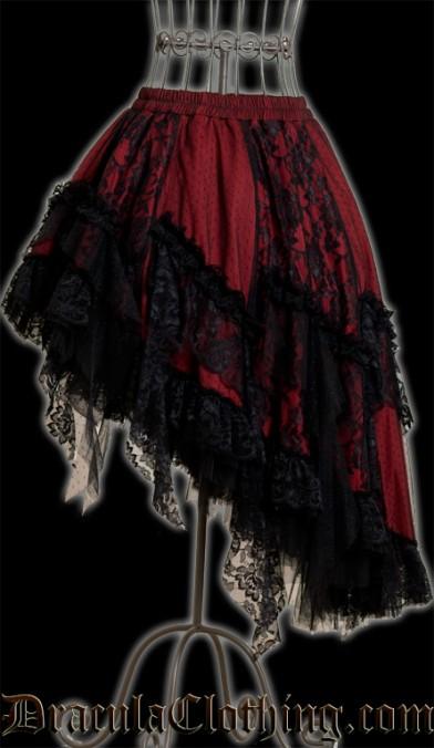 Red Ruffle Skirt