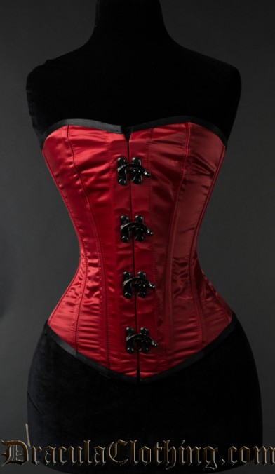 Red Satin Clasp Overbust