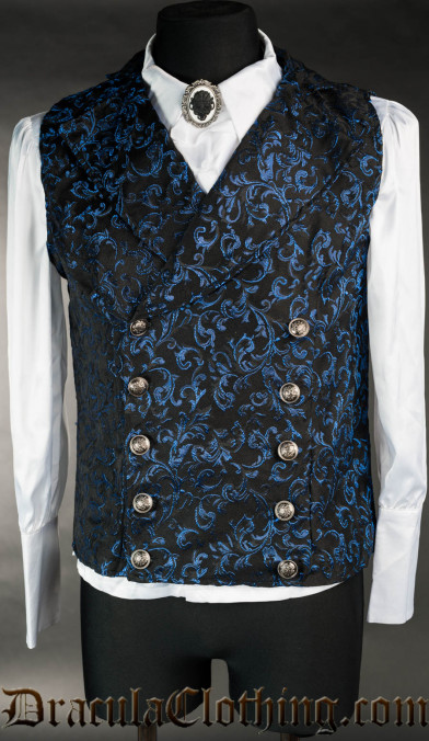Sapphire Double Buttoned Vest