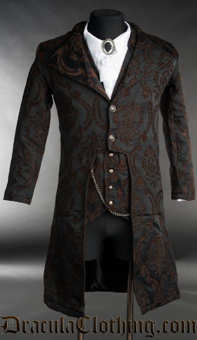 Steampunk Brocade Elegant Tailcoat