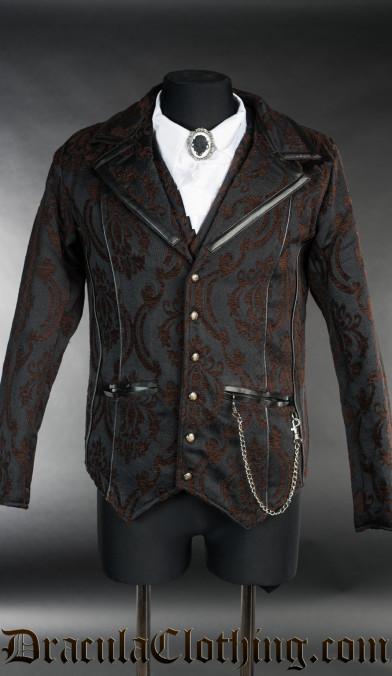 Steampunk Brocade Tesla Jacket