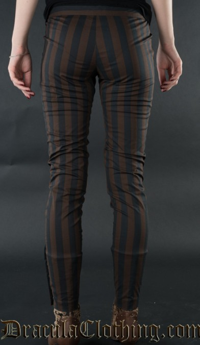 Steampunk Striped Five Button Pants