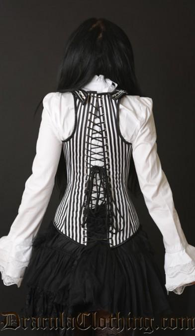 Striped Shoulder Corset