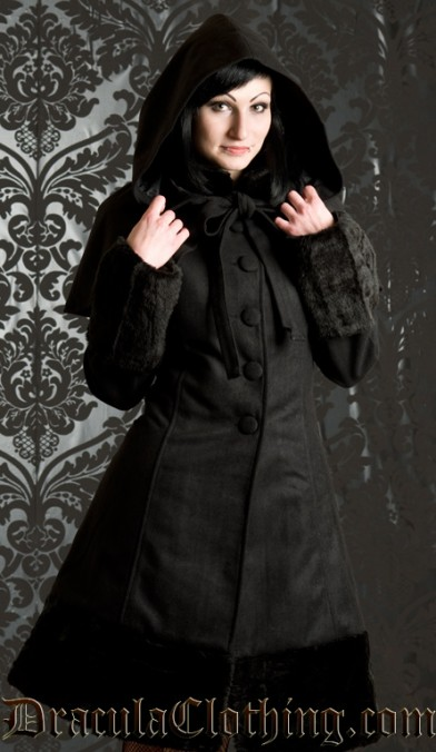 Black Winter Wool Coat