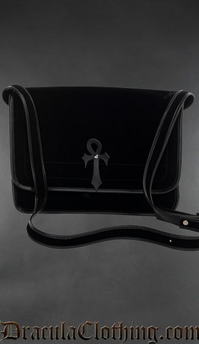 Velvet Ankh Shoulder Bag