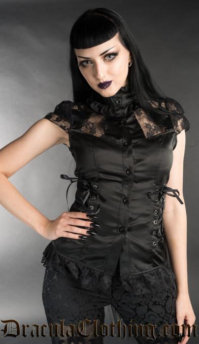 Black Laced Blouse