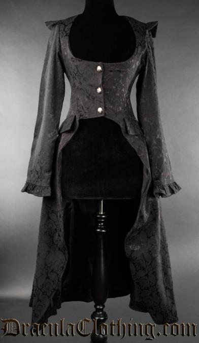 Black Brocade EGA Coat