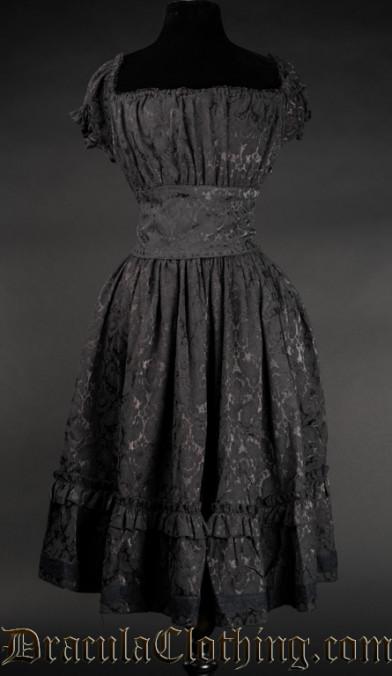 Brocade Gothabilly Dress