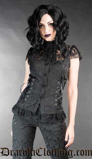 Brocade Laced Blouse