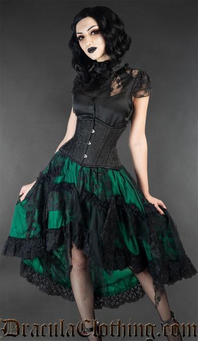 Green Ruffle Skirt