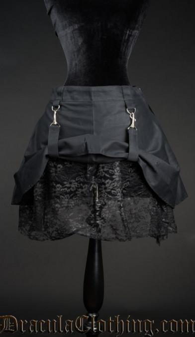 Pull Up Short Skirt
