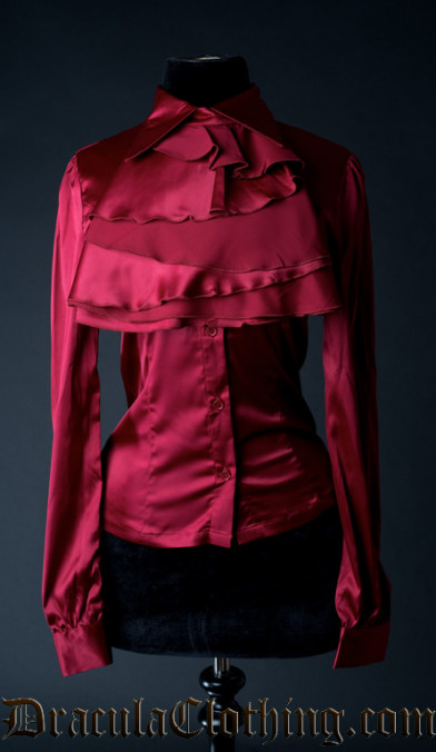 Red Satin Marquess Blouse