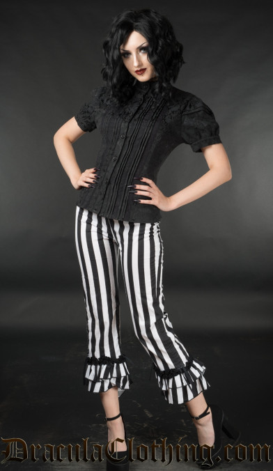 Striped Ruffle Pants