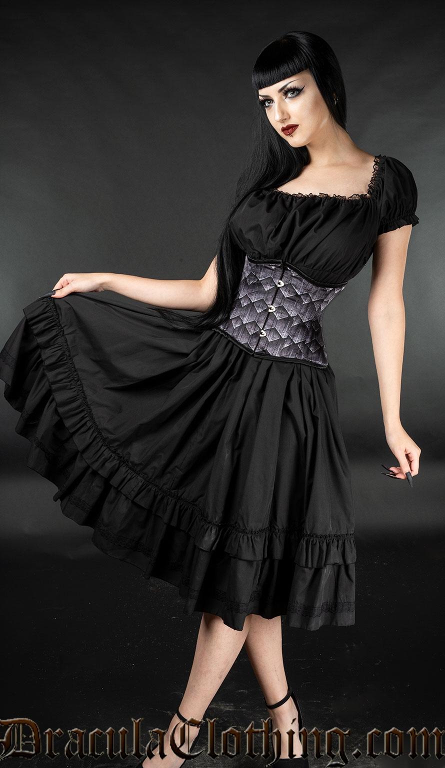 Black Gothabilly Dress