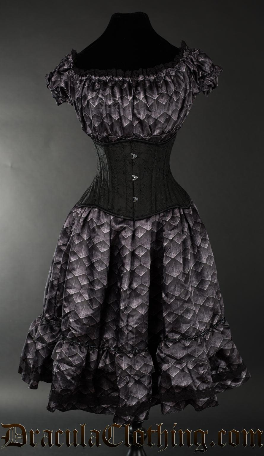 Dragon Scale Gothabilly Dress