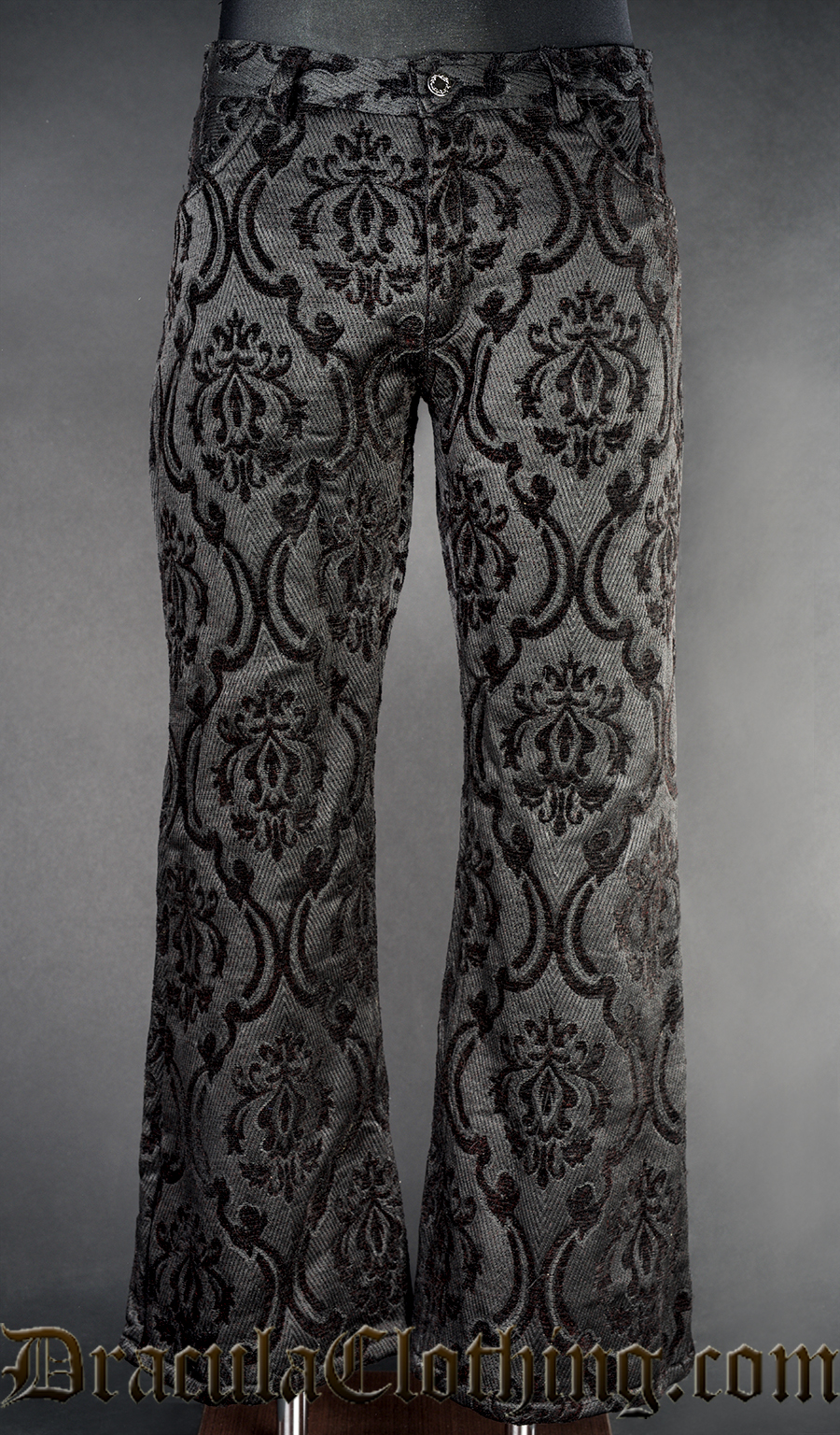 Black Brocade Boots Pants