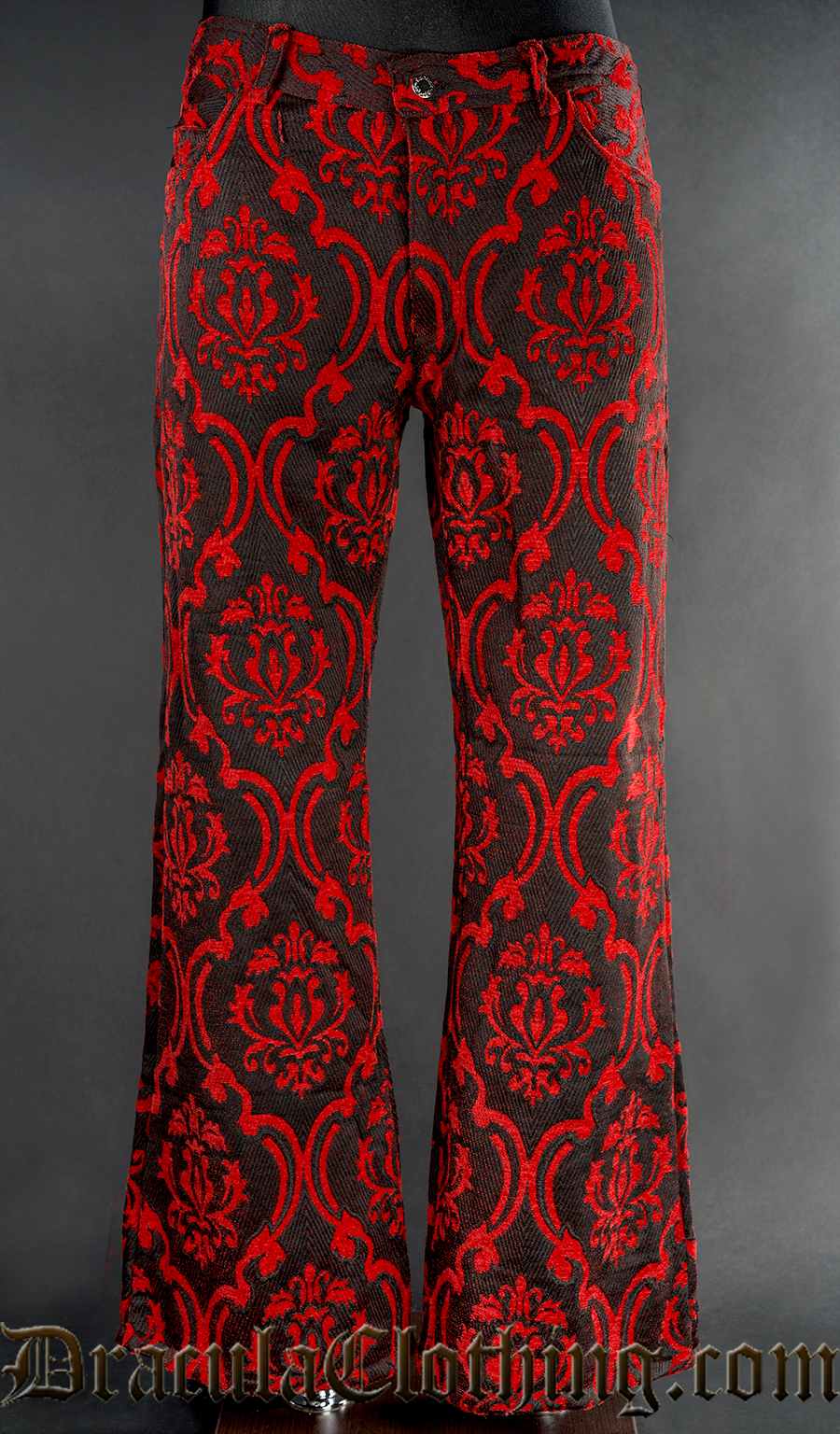 Red Brocade Boots Pants