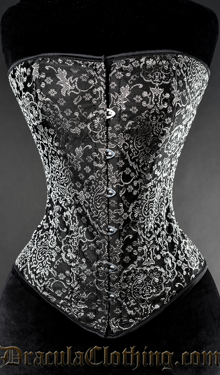 Silver Jacquard Overbust Corset