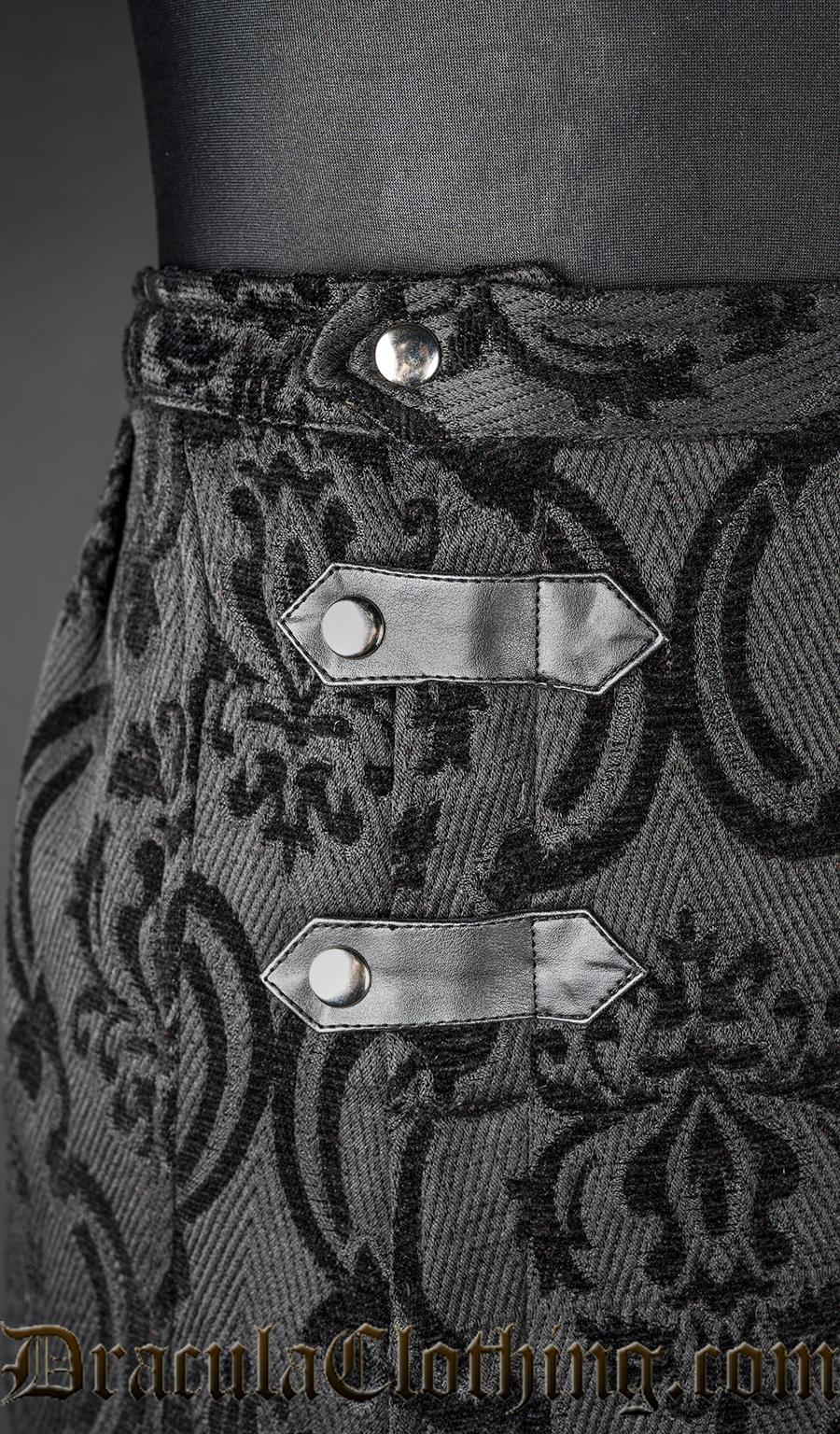 Black Brocade Kilt