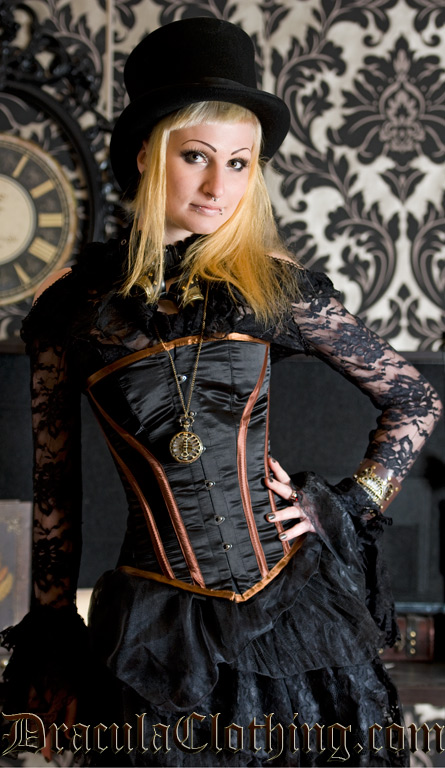 Four Stripes Steampunk Corset, size 20
