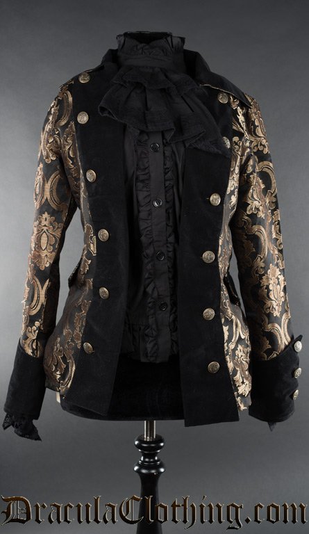 Gold Brocade Female Pirate Jacket