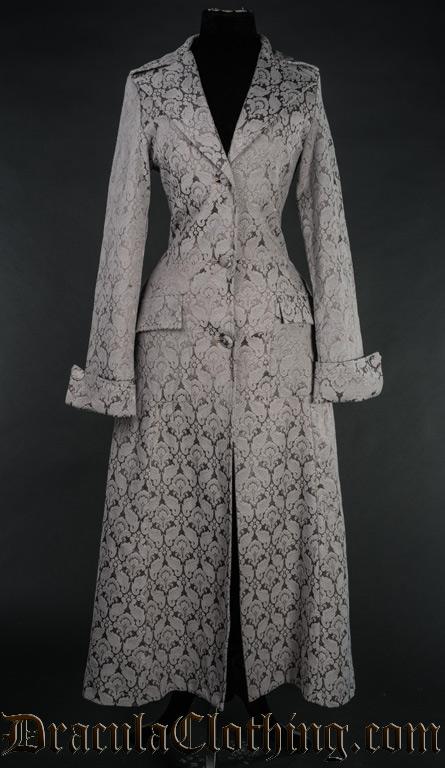 Grey Brocade Coat