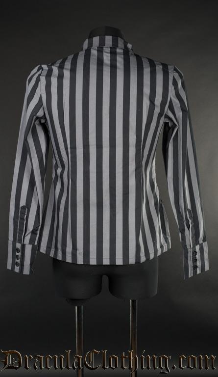 Grey Striped Naval Shirt