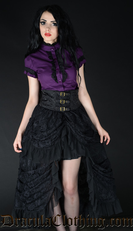 High Waist Bustle Skirt