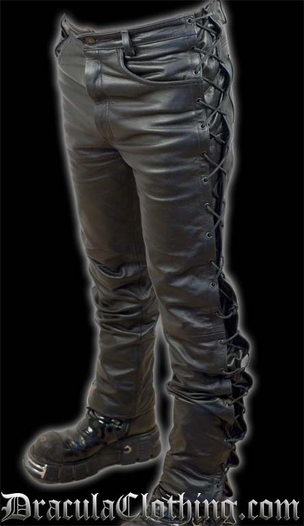 Laced Leather Pants