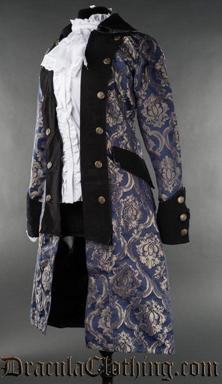 Blue Royal Female Pirate Coat