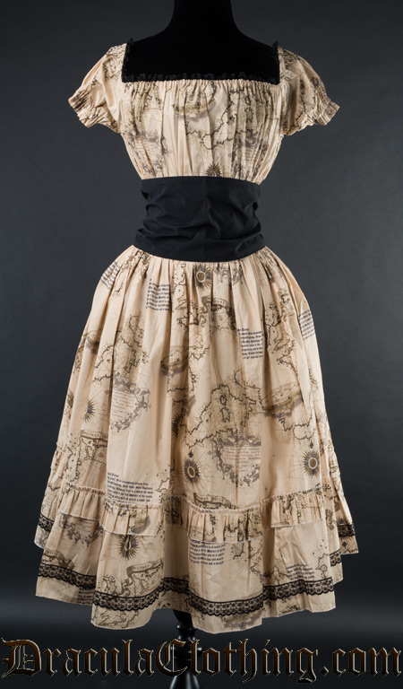 Map Gothabilly Dress