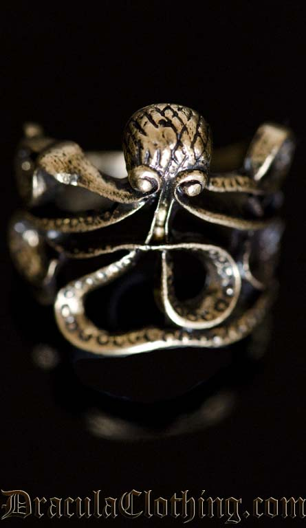 Octopus Steampunk Ring
