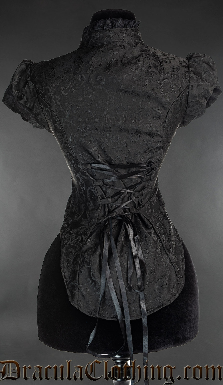 Onyx Short Sleeved Lace Blouse