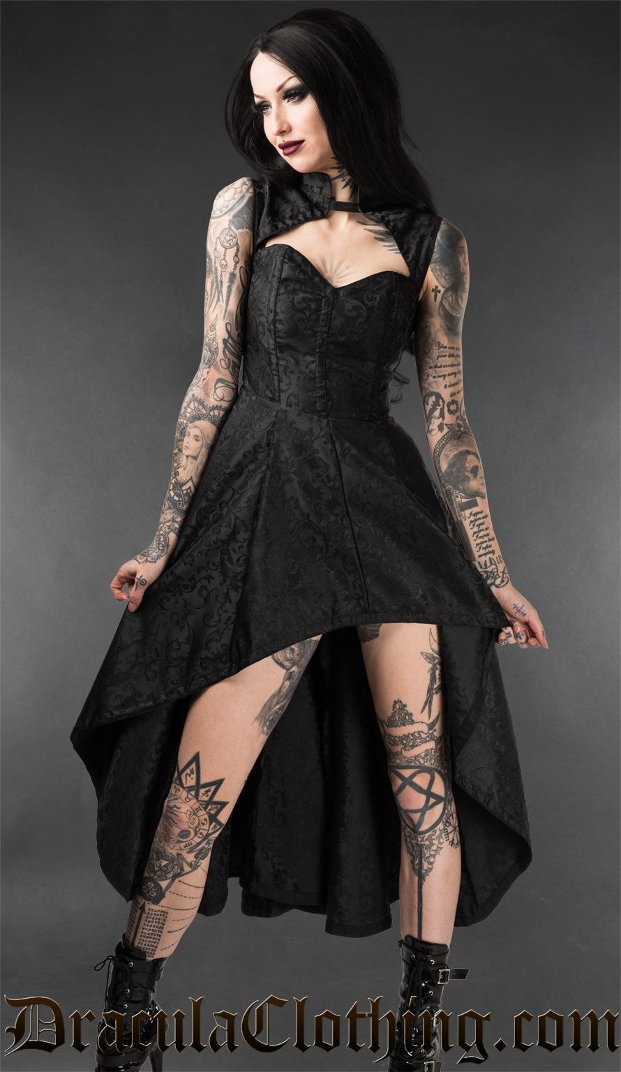 Onyx Steel Choker Dress