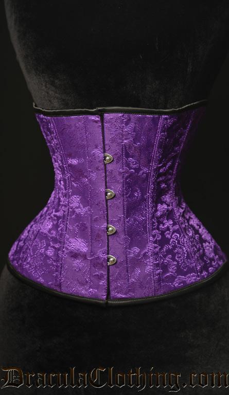 Purple Brocade Corset