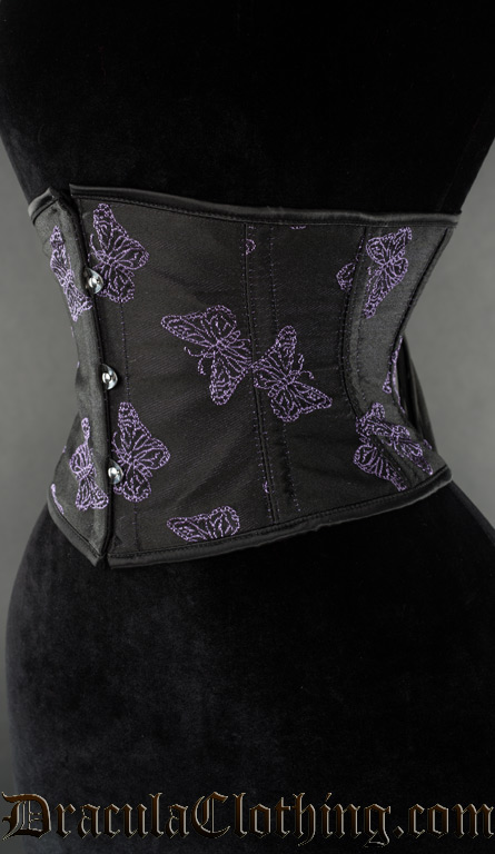 Purple Butterfly Waist Cincher