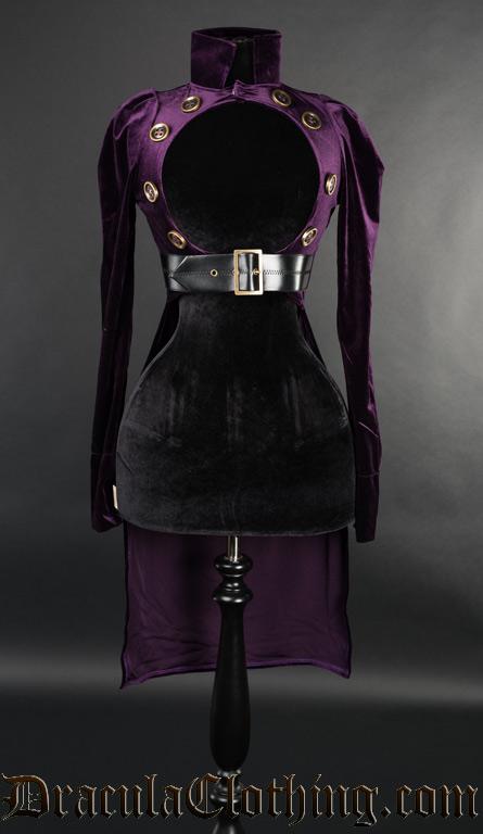 Purple Openbust Tailcoat