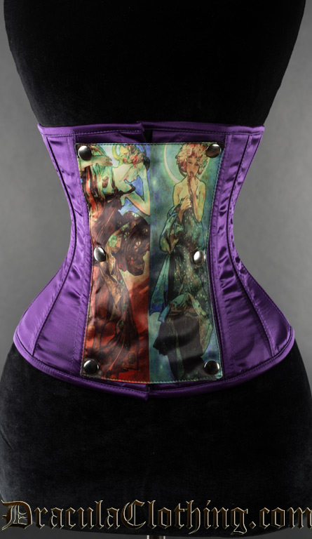 Purple Panel Corset