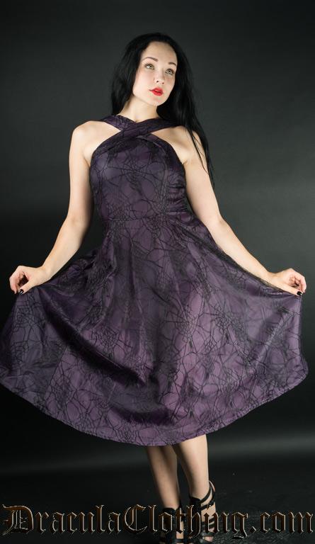 Purple Spider Dress
