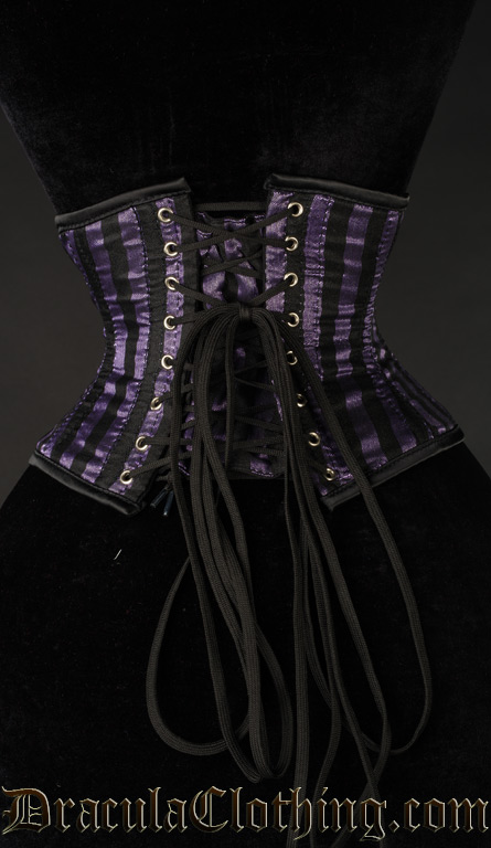 Purple Striped Waist Cincher