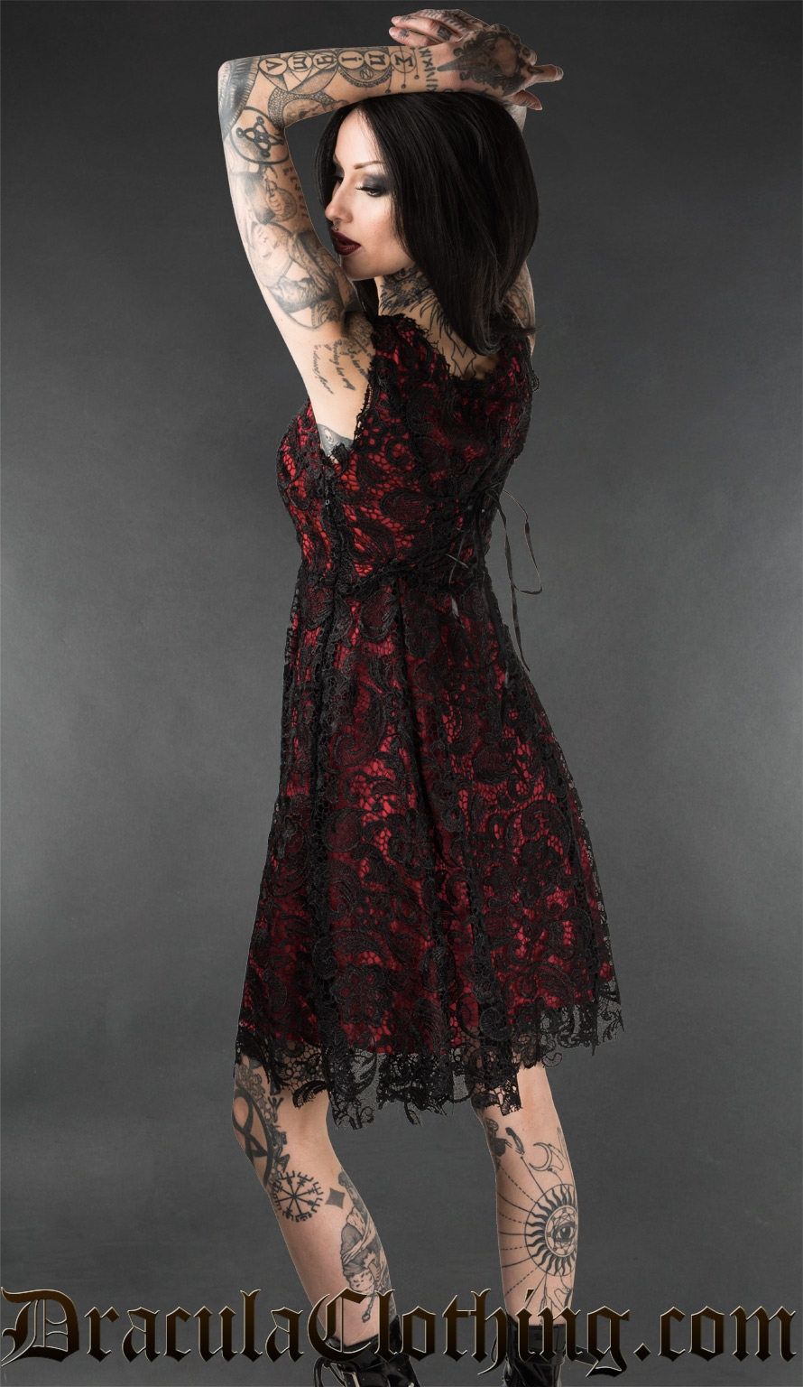 Red Art Deco Dress
