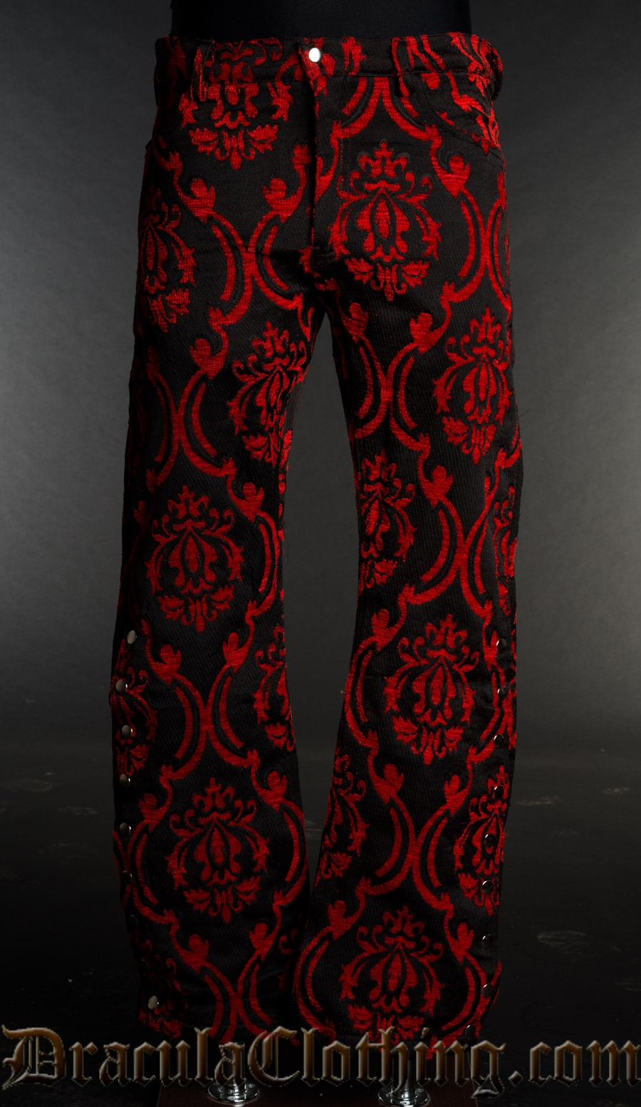 Red Brocade Officer Pants